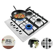 23 2 Built In 4 Burners Stove Top Gas Cooktop Kitchen Easy To Clean Gas Cooking