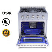 Thor Kitchen 30 Electric Convection Oven Gas Range Dual Fuel Griddle 4 2 Cu Ft