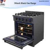 30in Gas Range Gas Cooktop 4 Burners Built In Stove 4 2 Cu Ft Oven Cooktop Black