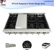 Thor Kitchen 48 Inch 6 Burner Gas Cooktops Built In Stainless Material Gas Stove