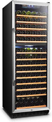 Lanbo Dual Zone Compressor Red Wine Cooler With Wooden Shelves 160 Bottles