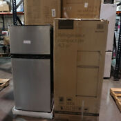 Insignia 4 3cf Top Freezer Refrigerator Stainless Steel Ns Cf43ss9