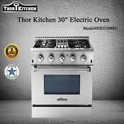 Thor Kitchen 30 Electric Oven Gas Hob 4 Burners Built In Stove Cooktop Hrd3088u