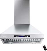 Iktch 30 Inch Wall Mount Range Hood 900 Cfm Ducted Ductless Convertible Kitchen