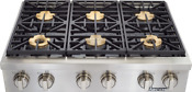Dacor Dyrtp366s Ng Discovery 36 Gas Rangetop Professional Style Stainless
