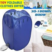 Clothes Dryer 800w Electric Foldable Clothes Warm Clothes Travel Cabine Storage