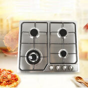 23 3 4 Burners Built In Stove Ng Lpg Gas Cooktop Hobs Cooker Stainless Steel