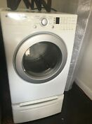 Lg Tromm Front Load Washer Wm2233hw And Dryer Dlg3744w On Pedestals