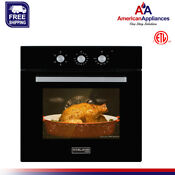 Gasland Chef Es605mb 24 Built In Black Glass Electric Single Wall Oven 240v
