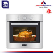 Gasland Chef Es605ms 24 Built In Stainless Steel Electric Single Wall Oven