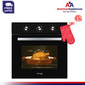 Gasland Chef Es609mb 24 Built In 2 3 Cu F Convection Wall Oven With Rotisserie