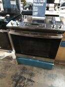 Ge Stainless Steel Smooth Surface Self Cleaning Slide In Electric Range