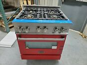 Zline 30 Range W Gas Stove And Gas Oven Limited Edition Red W Brass Ln