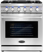 Cosmo Cos Epgr304 Slide In Freestanding Gas Range With 5 Sealed Burners Cast Ir