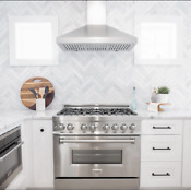 Zline 36 Dual Fuel Range With Gas Stove And Electric Oven In Stainless Ln Ra 36