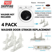 4 Pack New Washer Door Striker Parts For Frigidaire Kenmore Washing