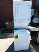 Ge Electric Stacked Laundry Center With 2 3 Cu Ft Washer And 4 4 Cu Ft Dryer