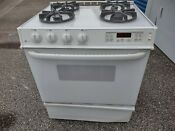 Ge Profile White 30 Drop In Gas Cooktop Stovetop Range With 4 Burners