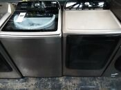 Samsung High Efficiency Top Load Washer And Dryer Set Champagne