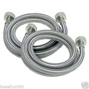 2 4 Foot Stainless Steel Washer Washing Machine Hoses
