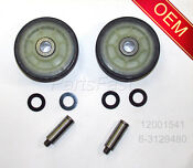 Oem Factory Dryer Parts 2 Rollers 2 Shafts Maytag Admiral Crosley See Models