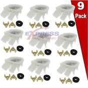 9 Pack Lot 3363394 285753a Washer Drain Pump And Motor Coupler Set
