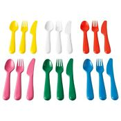 Ikea Kalas 18 Piece Cutlery Set Assorted Colours
