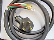Electric Range Dryer 220v 4 Wire Power Cord 5 W Clamp 10 4 Black