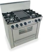 Fivestar 36in Pro Gas Range With 4 Burners And Griddle Ttn310 7bw