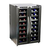 Whynter 32 Bottle Dual Zone Freestanding Wine Cooler Wc 321dd With Bonus