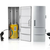 Usb Small Fridge Freezer Cold Can Drink Beer Cooler Warmer For Travel Car Office