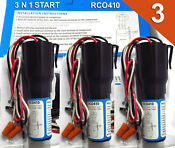 3 Pack Supco Rco410 Start Kit 3 N 1 Overload Relay 1 4 To 1 3 Hp 120v