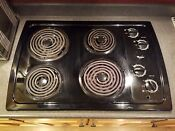 Black Whirlpool Electric Cooktop Stove 30