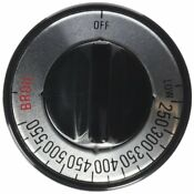 Lux Products Cpr407 Black Gas Oven Knob