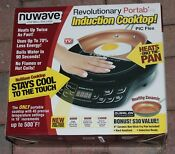 Nuwave 2 Piece Precision Portable Induction Cooktop 9 Ceramic Pan Seen On Tv