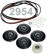 4392067 Kit With 5 Rib Belt Oem Factory Whirlpool Maytag Dryer Parts