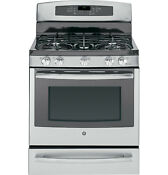 New 30 Ge Profile Dual Fuel Convection Stainless Range P2b940sefss Local Pickup