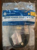Ge Dryer Power Cord 4 Wire Wx09x10018