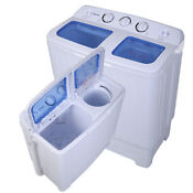 Costway Portable Twin Tub Washing Machine Apartment Dorm Laundry Home Compact