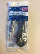 Ge Universal 3 Wire Dishwasher Power Cord 5 4ft New Wx09x70910 New Sealed Usa