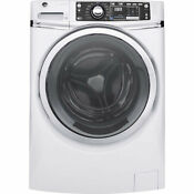 Ge 4 9 Cu Ft White Front Load Stackable W Steam Cycle Washer Energy Star