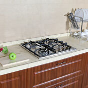 Brand 23 Stainless Steel 3300w Built In Kitchen 4 Burners Stove Gas Cooktop Hob