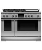 Fisher Paykel 48in Stainless Pro Duel Fuel Range With Griddle Rdv3 485gd N