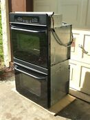 Ge Double Wall Oven 30 Jtp48bof3bb Black Glass Doors Home Appliance Excellent