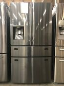 Samsung 30 Cu Ft French 4 Door Refrigerator Fingerprint Resistant Rf30kmedbsg