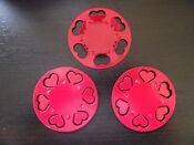 Ikea Vinter Tealight Holder Heart Red Pack Of 3