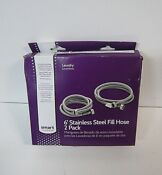 Smart Choice 6 Stainless Steel Washing Machine Fill Hose 2 Pack