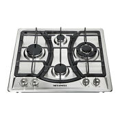 Windmax 46013 Me Stainless Steel 4 Burner Built In Gas Cooktop Cooker Ng Lpg