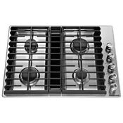 Kitchenaid 30 Stainless Steel 4 Burner Gas Downdraft Cooktop