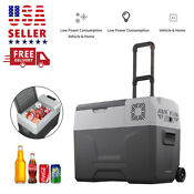 40l Car Refrigerator Portable Fridge Cooler Warmer Electric Travel Freezer 45w